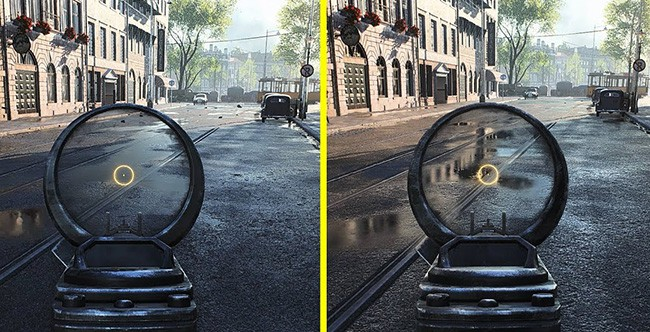 Ray tracing on vs off